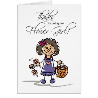Gracias que casan al florista, figura triguena del tarjeta de felicitación