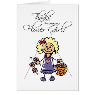 Gracias que casan al florista, figuras rubias del  tarjeta