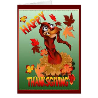 Gracias que dan Turquía y la tarjeta de las hojas