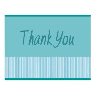 Gracias raya azul postales