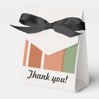 Gracias raya colores de tierra caja para regalos