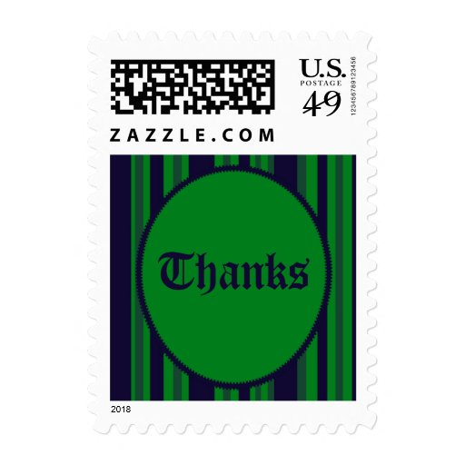 Gracias rayado azulverde timbres postales