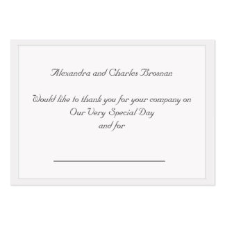 Gracias regalo de boda plantilla de tarjeta de negocio