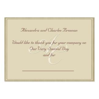 Gracias regalo de boda tarjetas de visita
