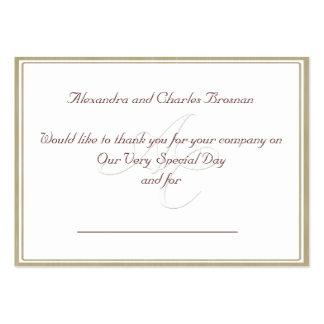 Gracias regalo de boda tarjeta de visita