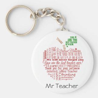 Gracias regalo del profesor llavero redondo tipo pin