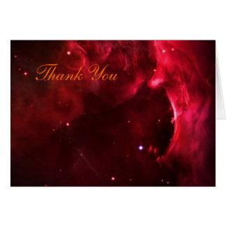 Gracias - región esculpida de la nebulosa de Orión Tarjeta De Felicitación