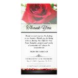 Gracias rosa rojo fúnebre - las palabras no pueden tarjetas personales