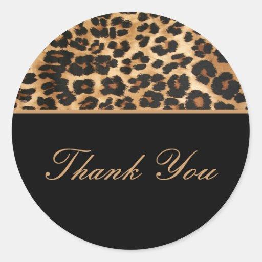 Gracias safari de los pegatinas etiquetas redondas