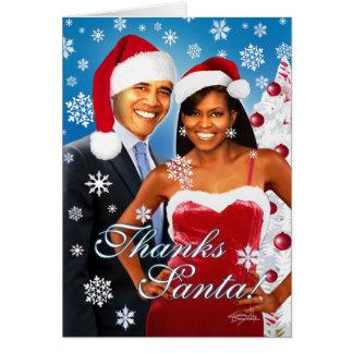 ¡Gracias, Santa! Tarjeta de felicitación