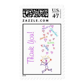 Gracias sella sello postal