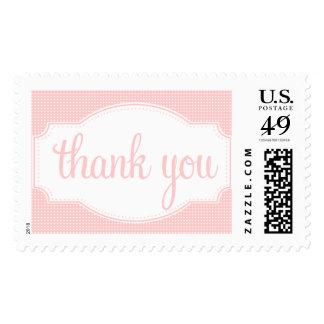 Gracias sellar puntos rosados sello