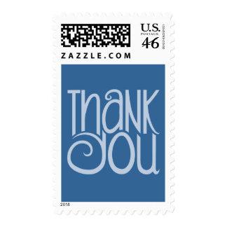 Gracias sello azul
