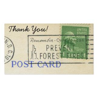 Gracias sello del papel del franqueo del vintage tarjeta de visita