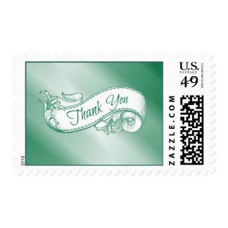"""Gracias"" sello en verde"