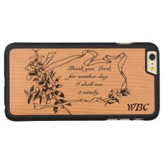 """""""Gracias, señor, por diseño del recordatorio de Funda De Cerezo Carved® Para iPhone 6 Plus"""