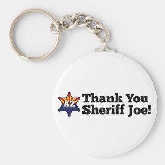 ¡Gracias sheriff Joe! Llavero