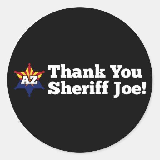 ¡Gracias sheriff Joe! Pegatinas Redondas