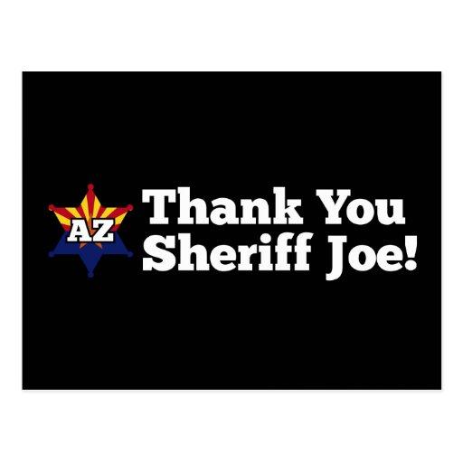¡Gracias sheriff Joe! Tarjetas Postales
