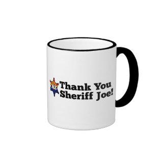 ¡Gracias sheriff Joe! Taza De Café
