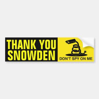 Gracias Snowden Pegatina Para Auto
