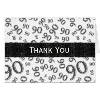Gracias sobre el 90.o tema del cumpleaños de la tarjeta pequeña