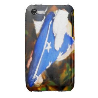 """""""Gracias"""" soldado que recibe la bandera americana Case-Mate iPhone 3 Protectores"""