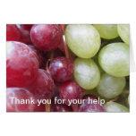 Gracias, soy Grapeful Tarjeta De Felicitación