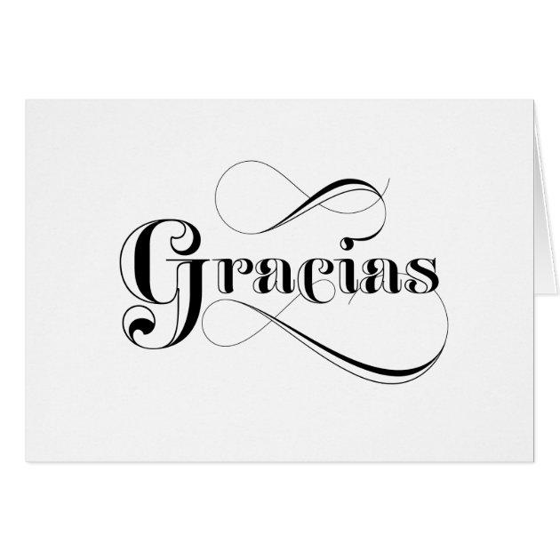 Gracias Spanish Thank You Cards | Zazzle