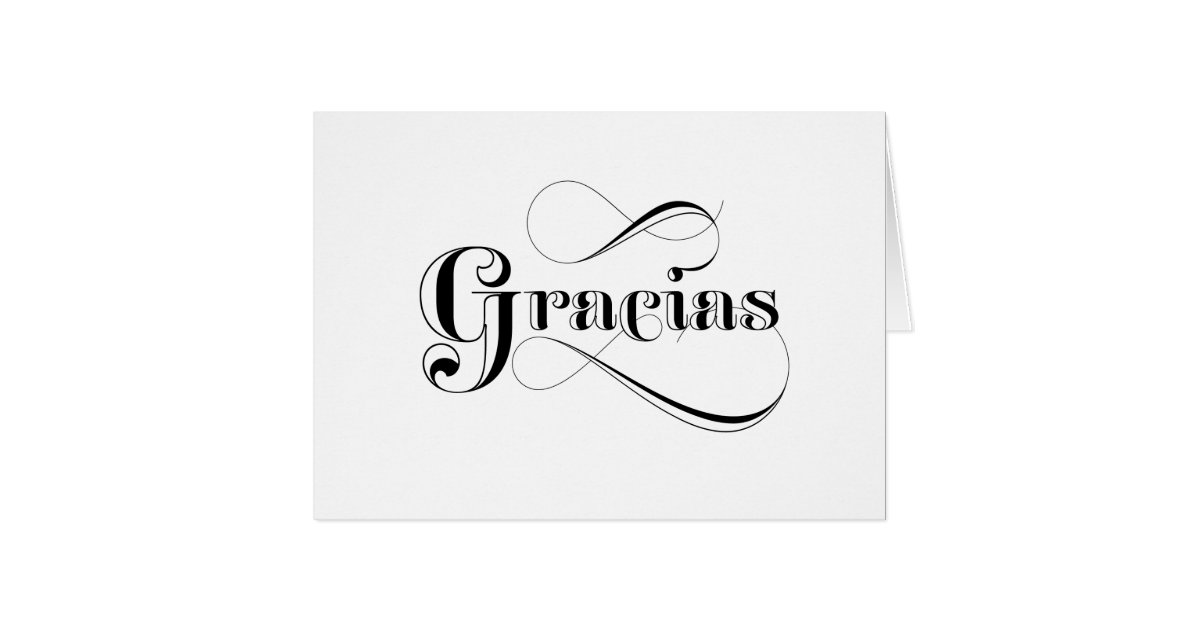 gracias spanish thank you cards