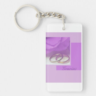 Gracias spanish wedding favor keychain