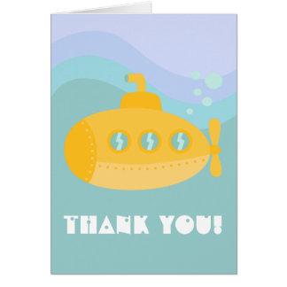 Gracias - submarino submarino amarillo adorable felicitaciones