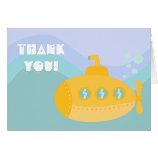 Gracias - submarino submarino amarillo adorable felicitacion