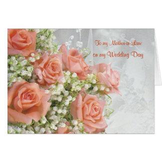 Gracias suegra. Rosas, lirio de los valles Tarjeta De Felicitación