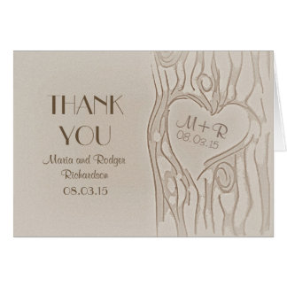 Gracias talló invitaciones de boda rústicas del ár tarjetón