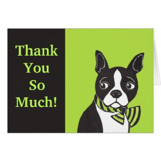 ¡Gracias tanto! Ponga verde la tarjeta negra de