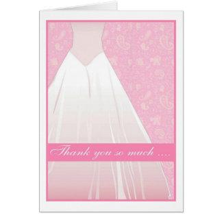 gracias tanto…. tarjeta de felicitación