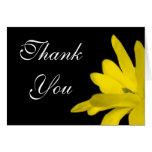 Gracias tarjeta amarilla floral