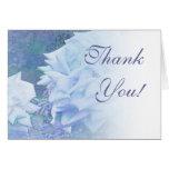 ¡Gracias! Tarjeta azul de la mezcla del rosa