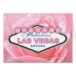 Gracias tarjeta color de rosa rosada de Las Vegas