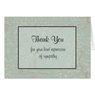 Gracias tarjeta de condolencia