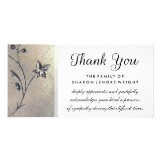 Gracias tarjeta de condolencia de la simplicidad tarjeta fotográfica
