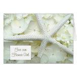 Gracias tarjeta de encargo de las estrellas de mar