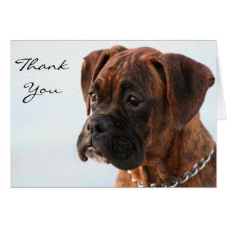 Gracias tarjeta de felicitación Brindle del