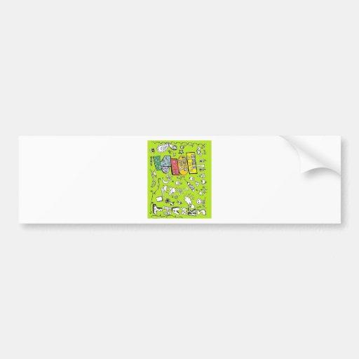 Gracias tarjeta de felicitación pegatina de parachoque