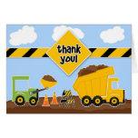 Gracias tarjeta de felicitación de la construcción