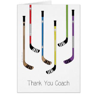 Gracias tarjeta de felicitación de los palillos de