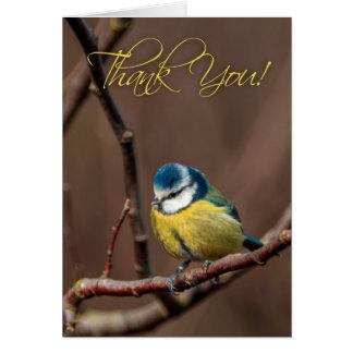 Gracias tarjeta de felicitación del Azul-Tit