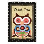 Gracias tarjeta de felicitación del búho