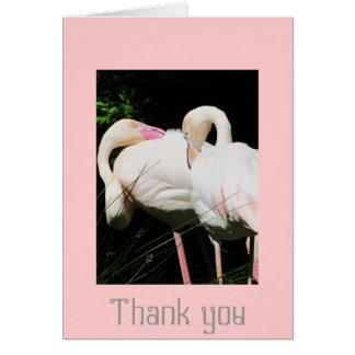 Gracias tarjeta de felicitación del pájaro del fla
